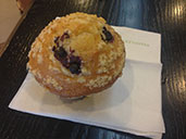 Blueberry muffin in Starbucks at Dong Hai in Futian.