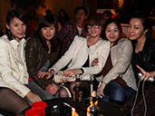 A group of ladies enjoying a drink at Club Viva in Futian.