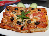 Pizza from the menu at Club Viva in Futian.