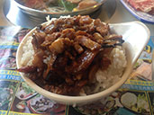 Taiwanese pork over rice at Hot Pot God in Longhua.
