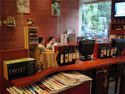 Book and computer area at Bear's Coffee in Nanshan.