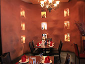 Front dining area of Spice Circle Indian Restaurant in Luohu.