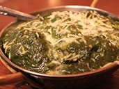 Palak Paneer spinach puree at Spice Circle Indian Restaurant in Luohu.